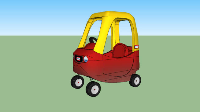 Little tikes cozy coupe.