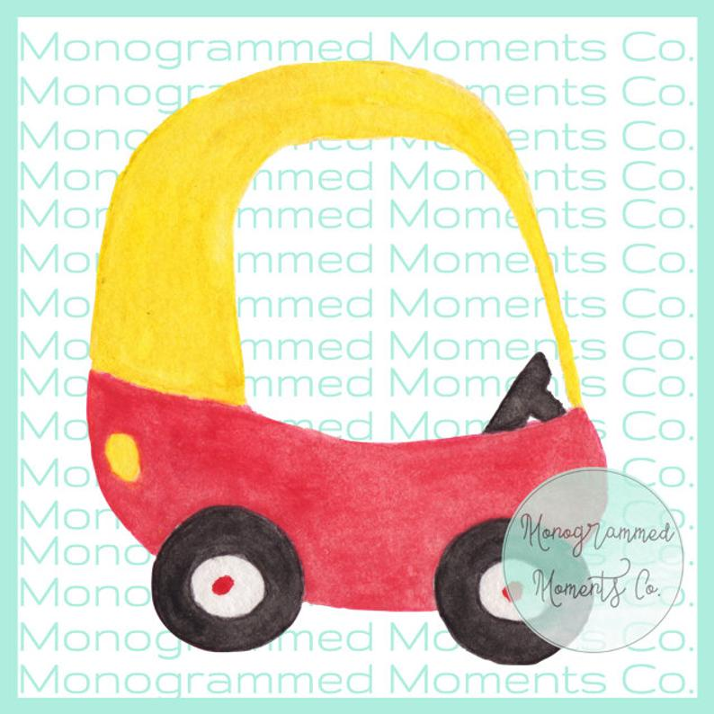 Cozy Coupe Watercolor Clipart.