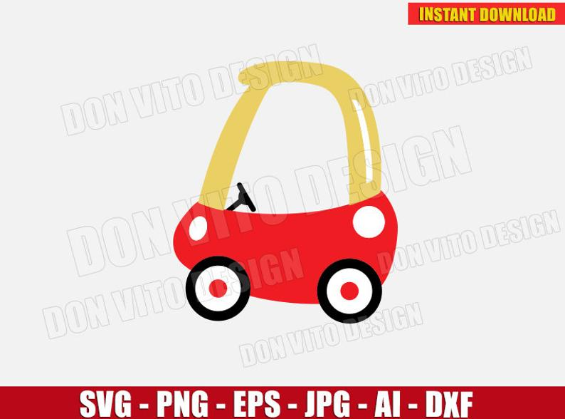 Cozy Coupe (SVG dxf png) MINI Small kids toy Car Ride Cut Files Silhouette  Cricut Vector Clipart T.