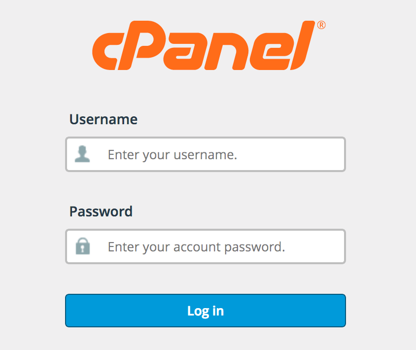 How to log into cPanel.