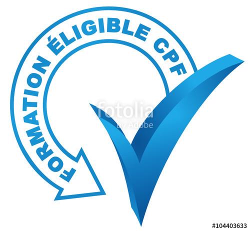 formation éligible cpf sur symbole validé bleu\