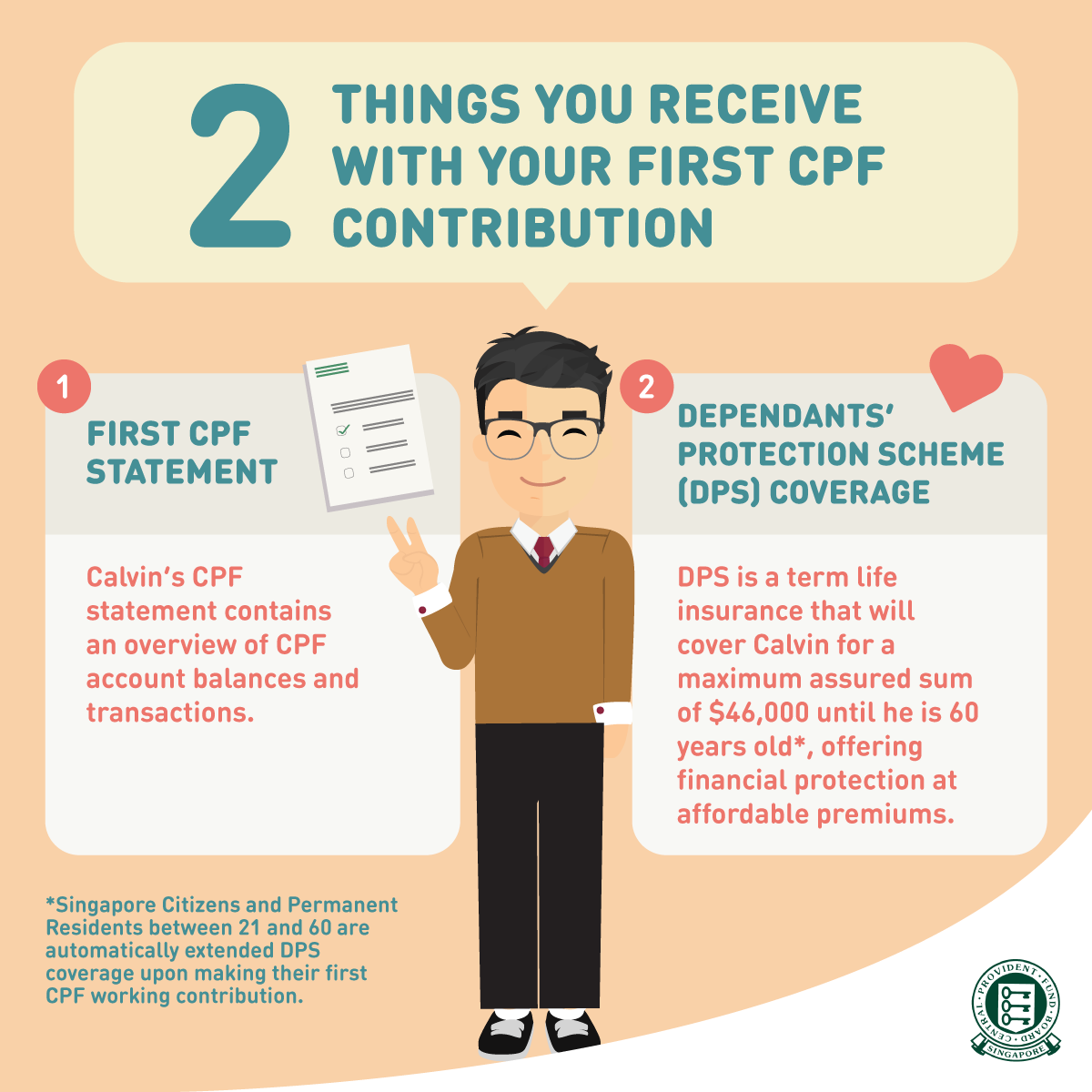 2 Things You Receive with Your First CPF Contribution.