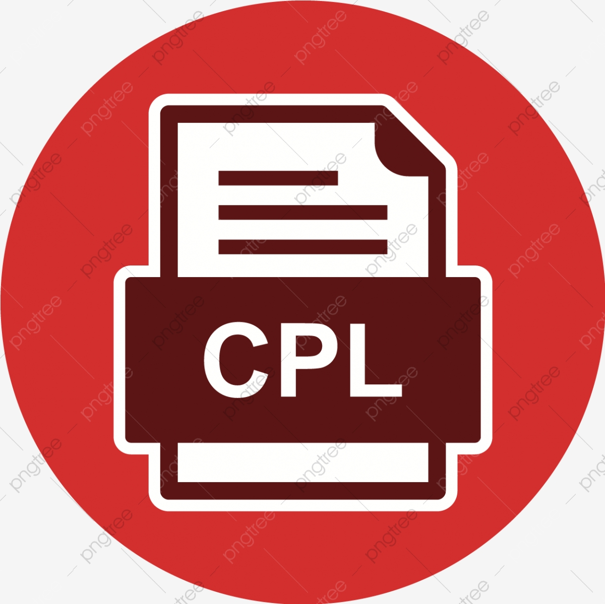 Cpl File Document Icon, Cpl, Document, File PNG and Vector with.
