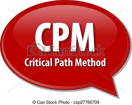 Stock Illustration of CPM acronym word speech bubble illustration.