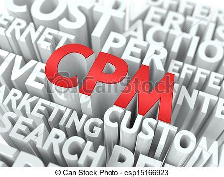 Clip Art of CPM. The Wordcloud Concept..