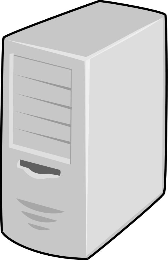 Server Cabinet CPU Clipart, vector clip art online, royalty free.
