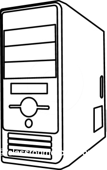 Computer cpu clipart for kids.