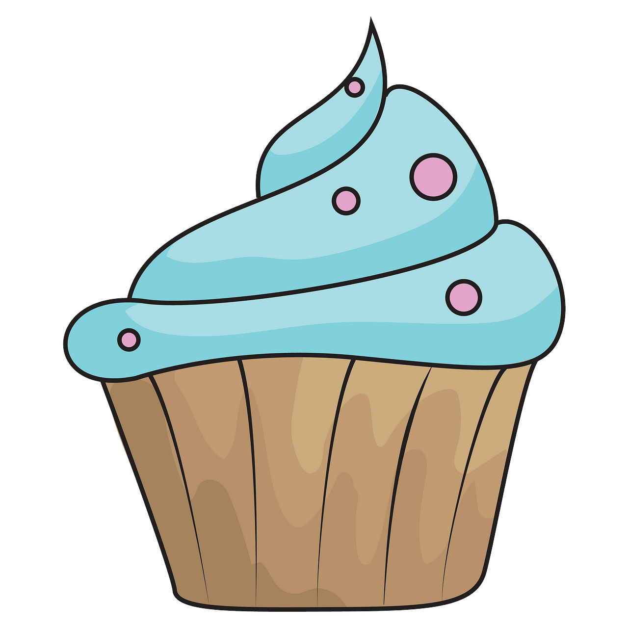 Blue cupcake clipart. Free download..