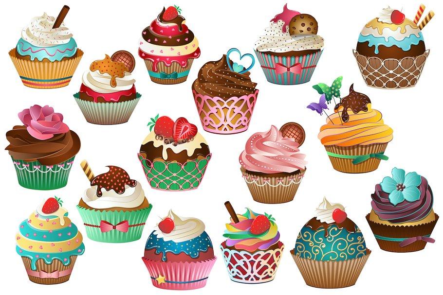 Cupcake Clipart Vector, PNG & JPG.
