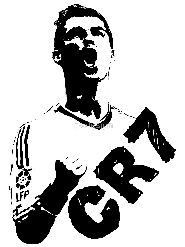 CR7 graffiti.