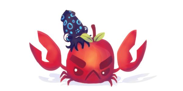 Crabapple Plush Kickstarter Update Art! by inki.