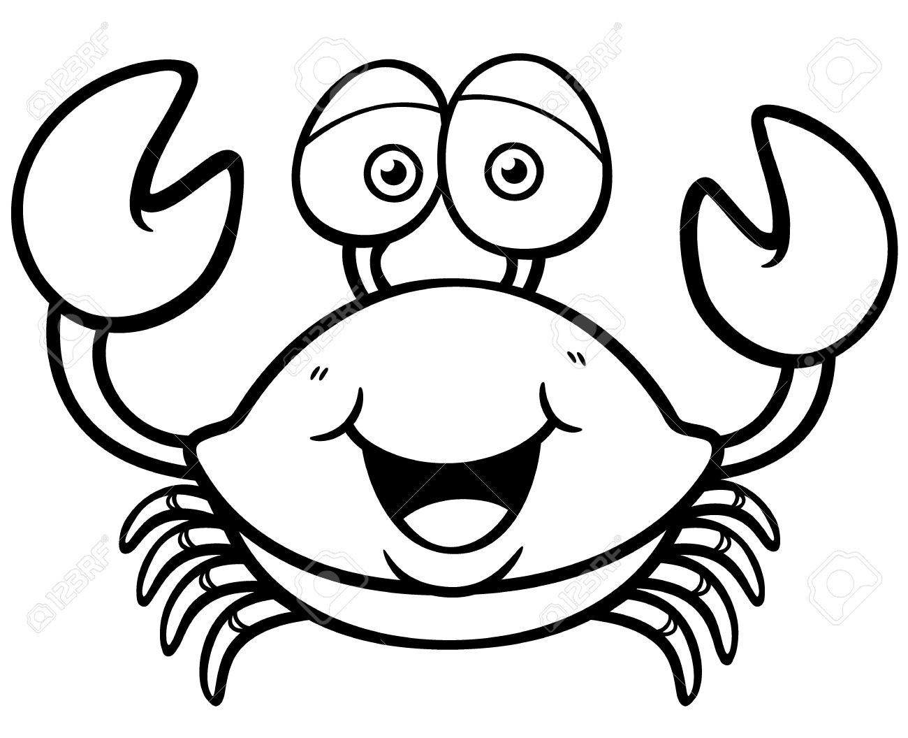 Crab black and white clipart 5 » Clipart Station.