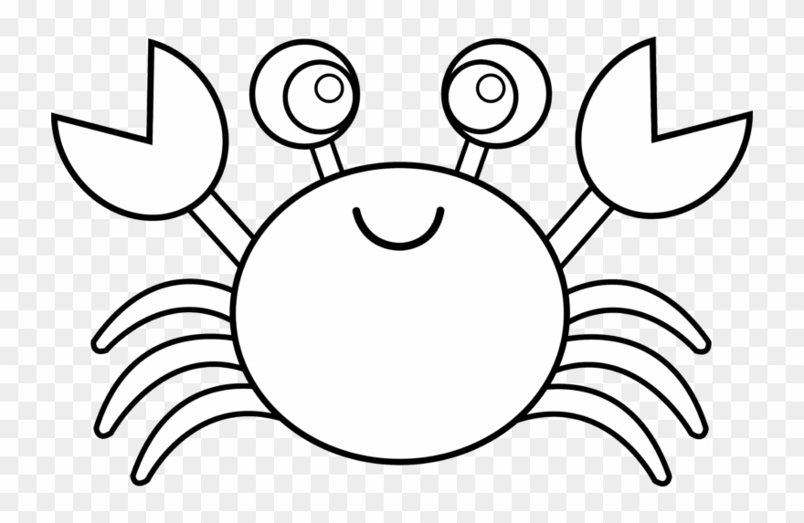 Crab Black And White Blue Crab Clipart Black And White.