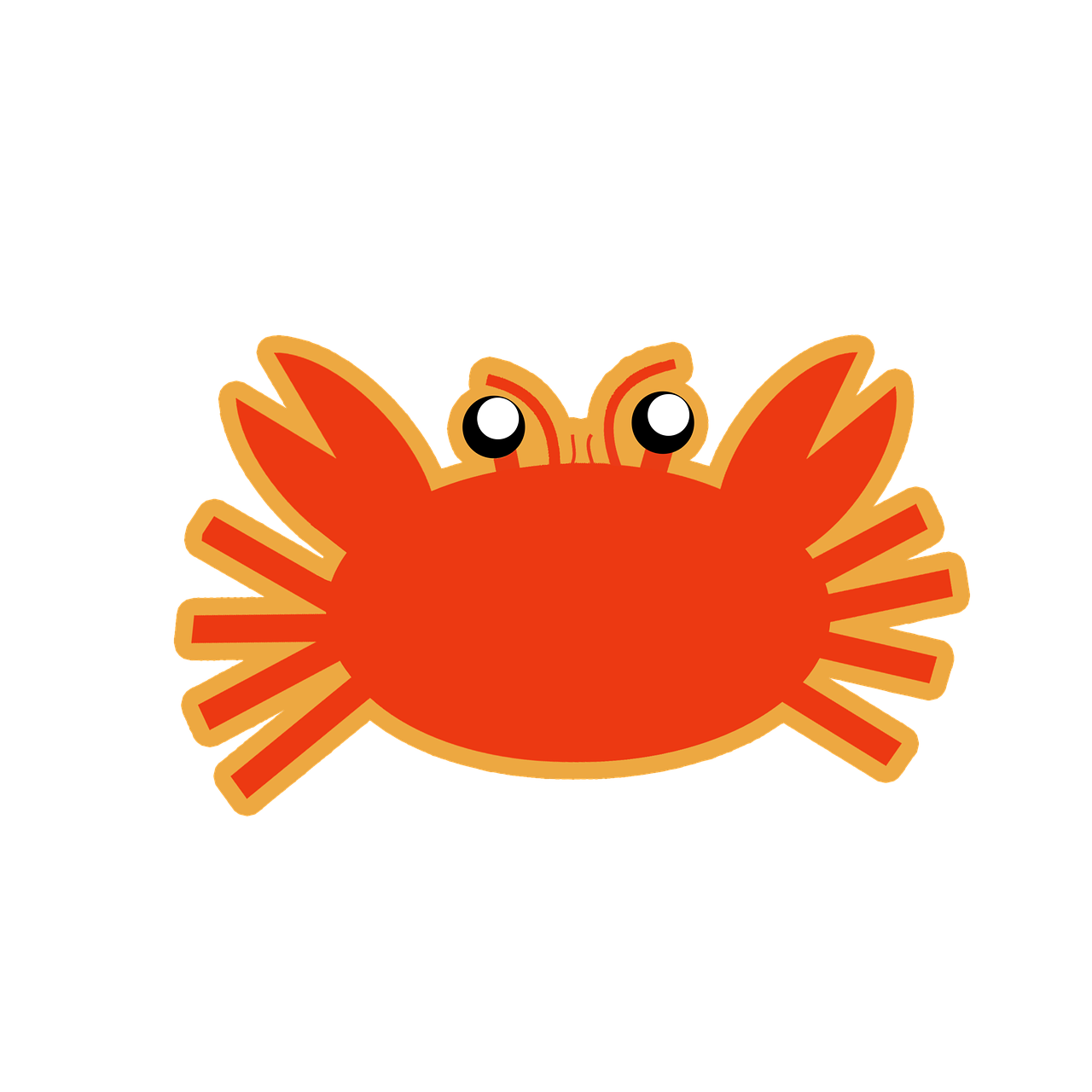 Crab Vector Seafood Claws PNG.