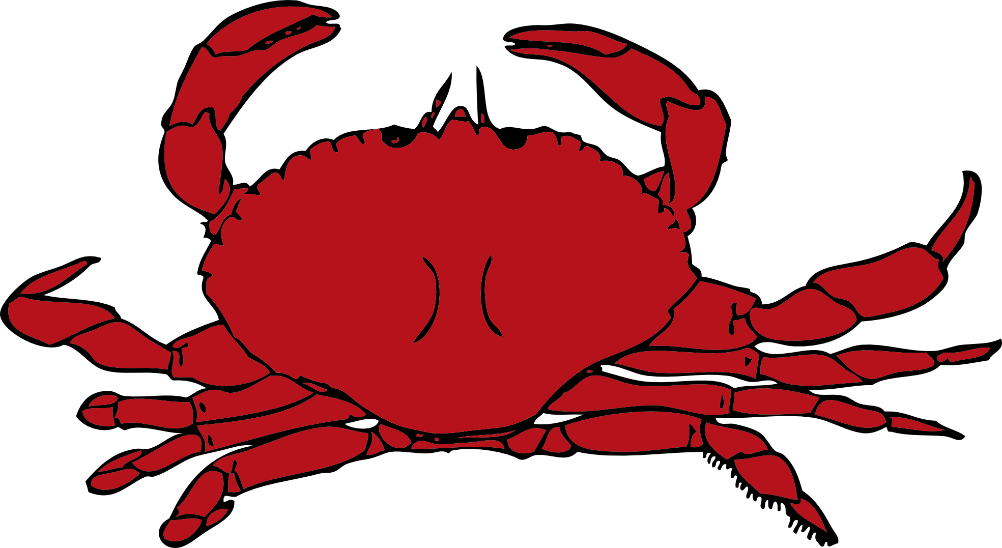 Crab Clip Art Cartoon.