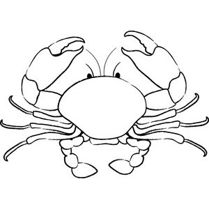 Crab clipart black and white 1 » Clipart Portal.