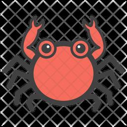 Crab Emoji Icon.