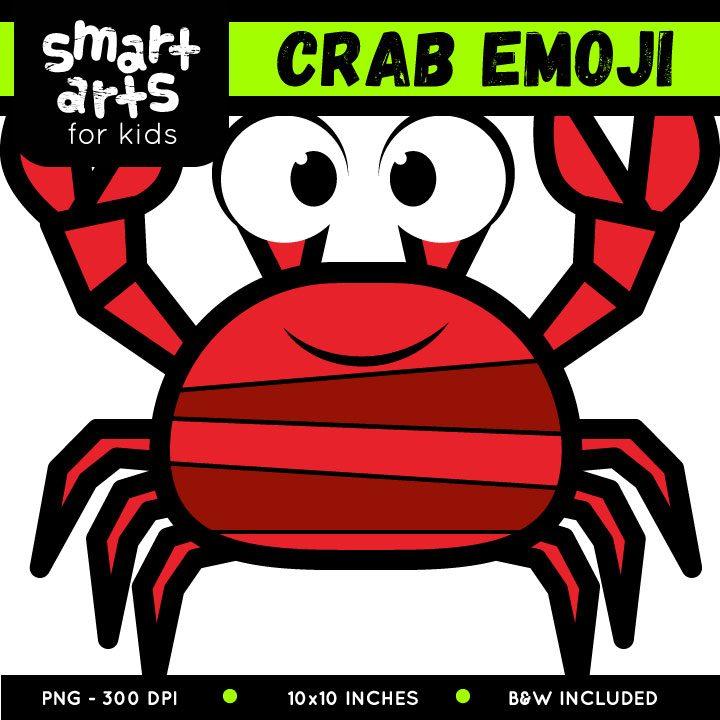 Crab Emoji Clip Art.