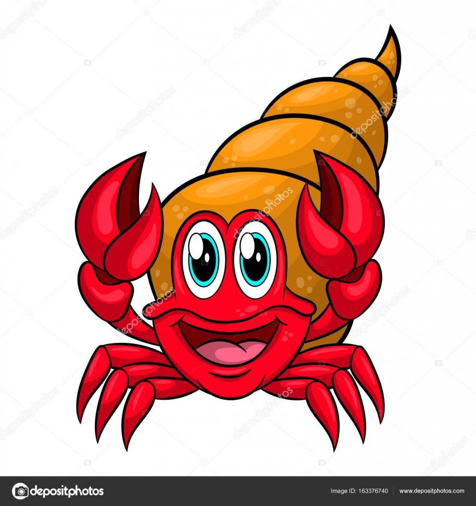 Clipart: hermit crab.