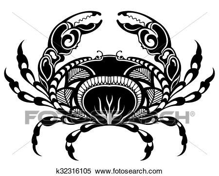Crab illustration Clipart.