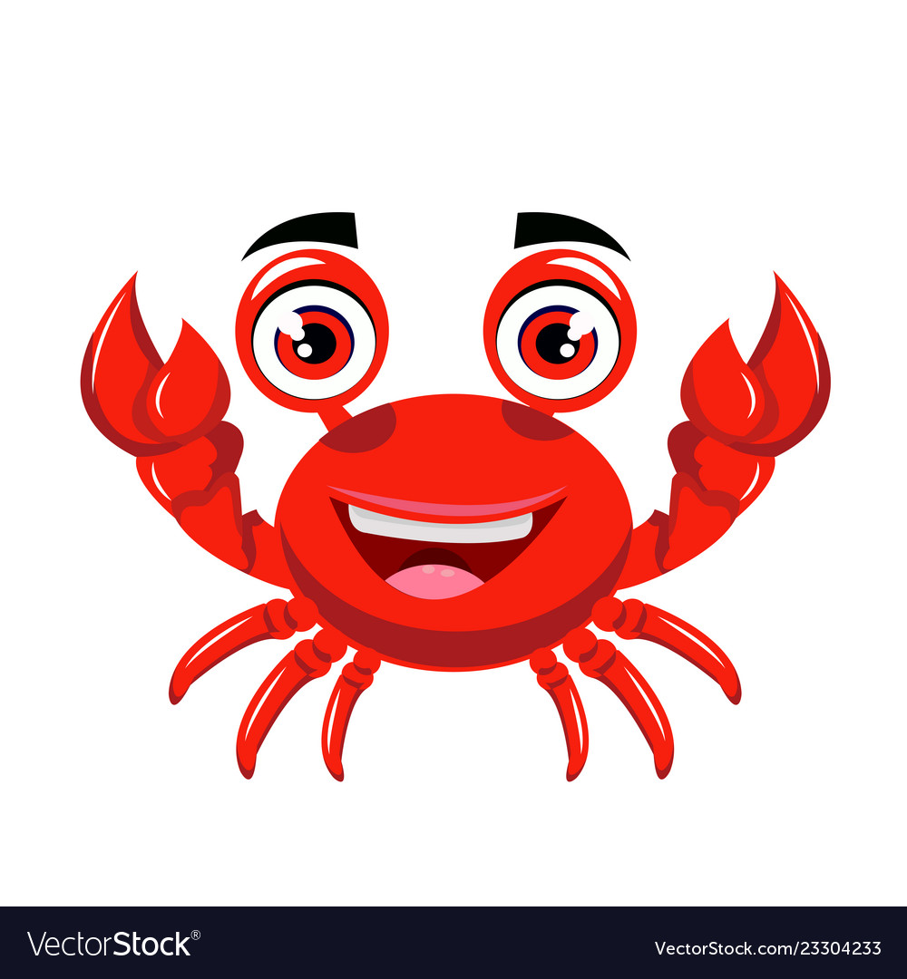 Crab cartoon or crab clipart cartoon.