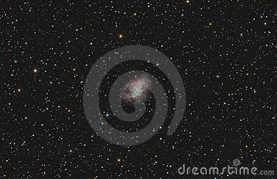 Crab Nebula (Supernova Remnant) Royalty Free Stock Photography.