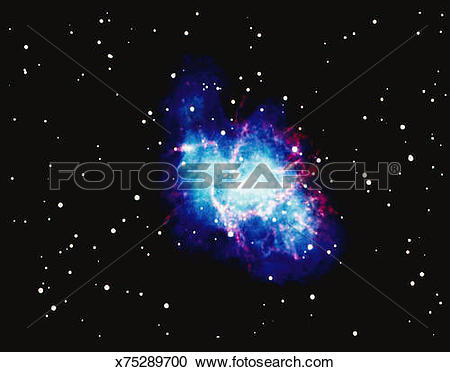 Stock Photography of Crab Nebula x75289700.