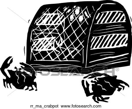 Crab pot Clip Art.