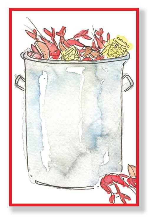 Crawfish Pot Clip Art.