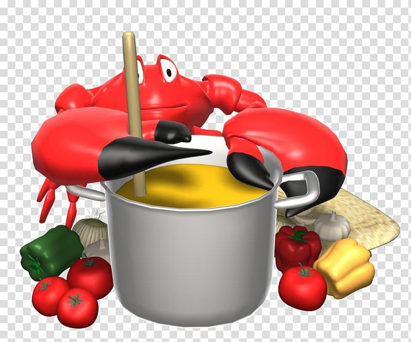 Crab cake Animation Florida stone crab, Soup Pot transparent.