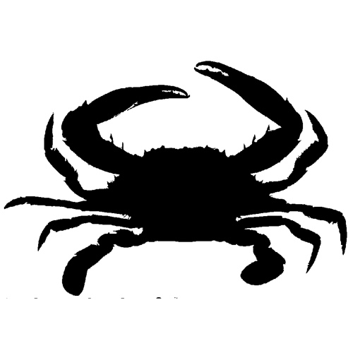 Crab black and white crab clipart silhouette clipartfest.