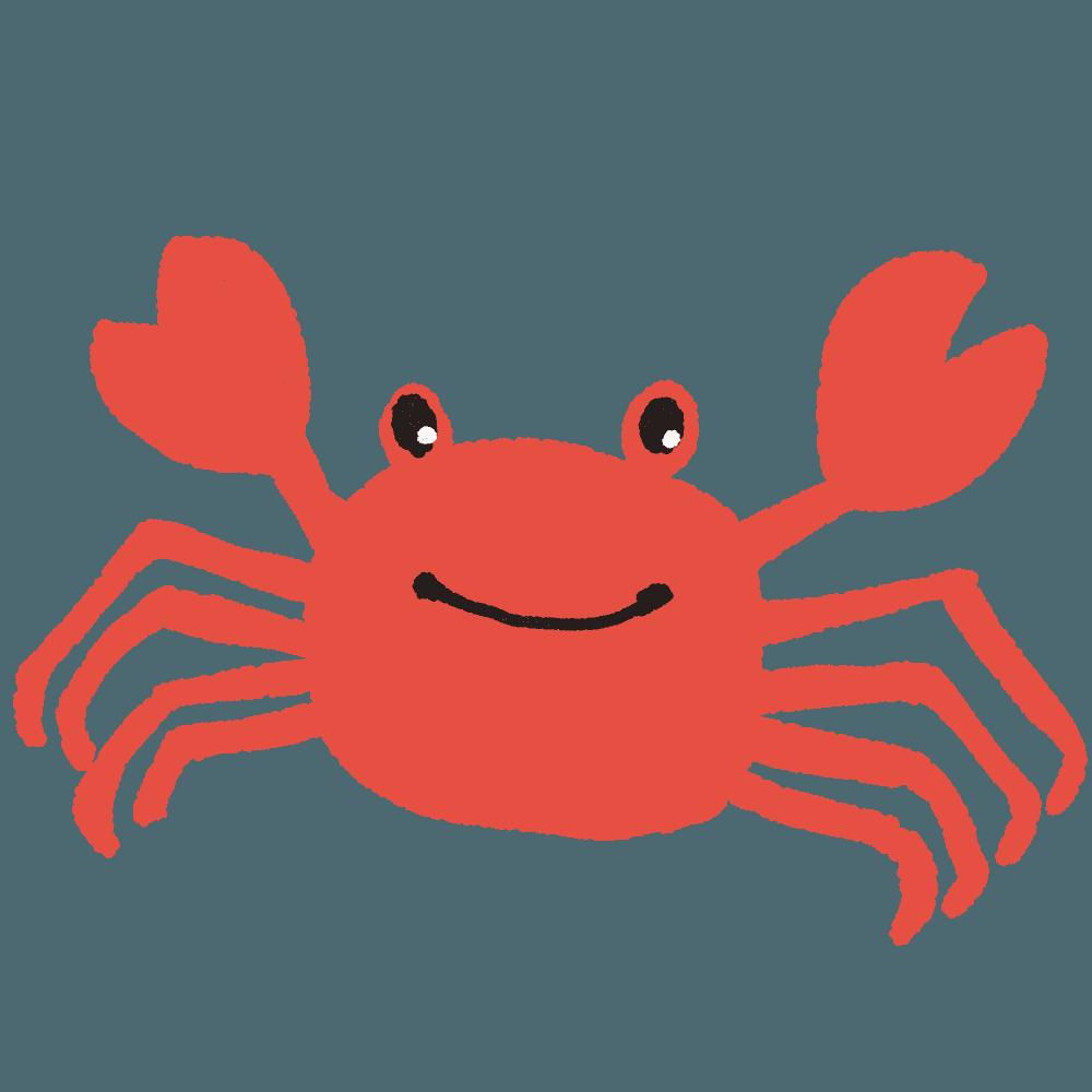Red king crab Geothelphusa dehaani Clip art.