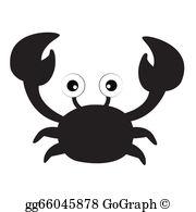 Crab Silhouette Clip Art.