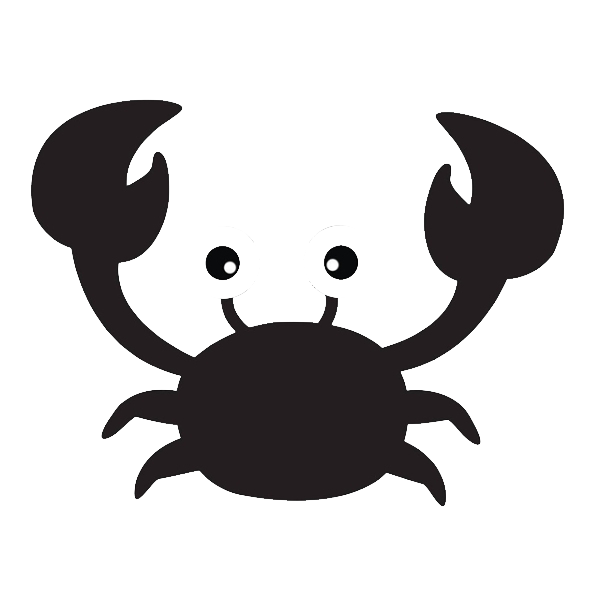 Crab Silhouette Scalable Vector Graphics Clip art.