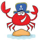 Clipart of Cartoon Crab k1977203.
