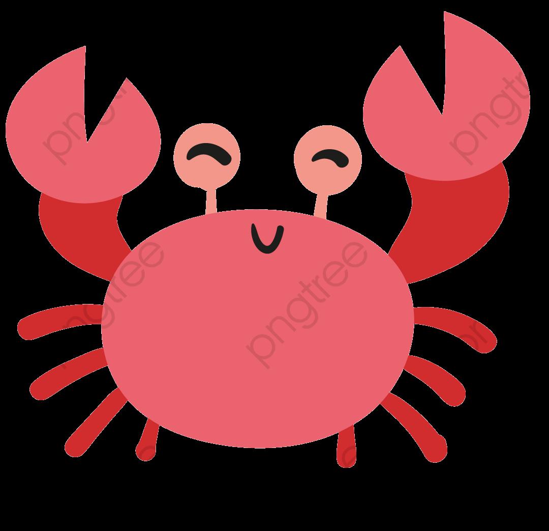 Cute Crab Material, Cute Clipart, Red, Cartoon PNG Transparent.