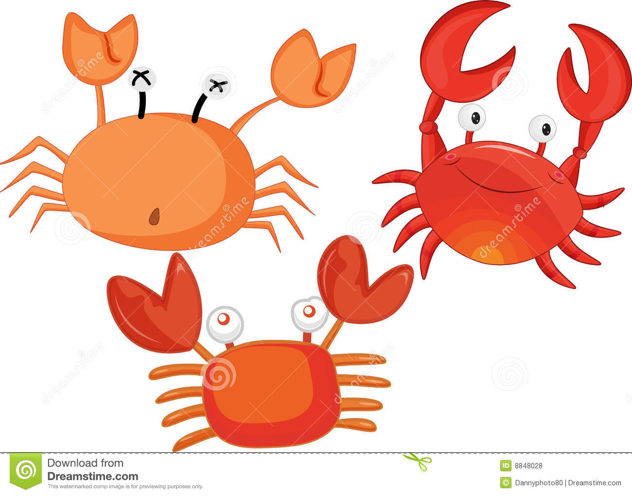 Crabs Stock Illustrations.