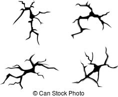 Clipart Vector of Cracks and clefts.