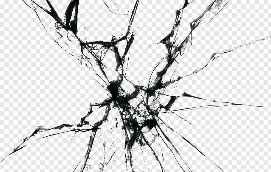 Gray cracked illustration, Window Glass, Broken glass HD.