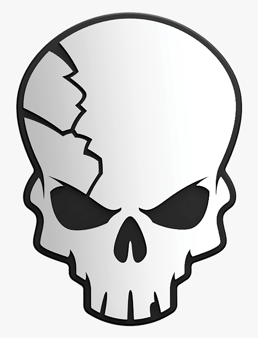 Transparent Cracked Skull Png , Free Transparent Clipart.
