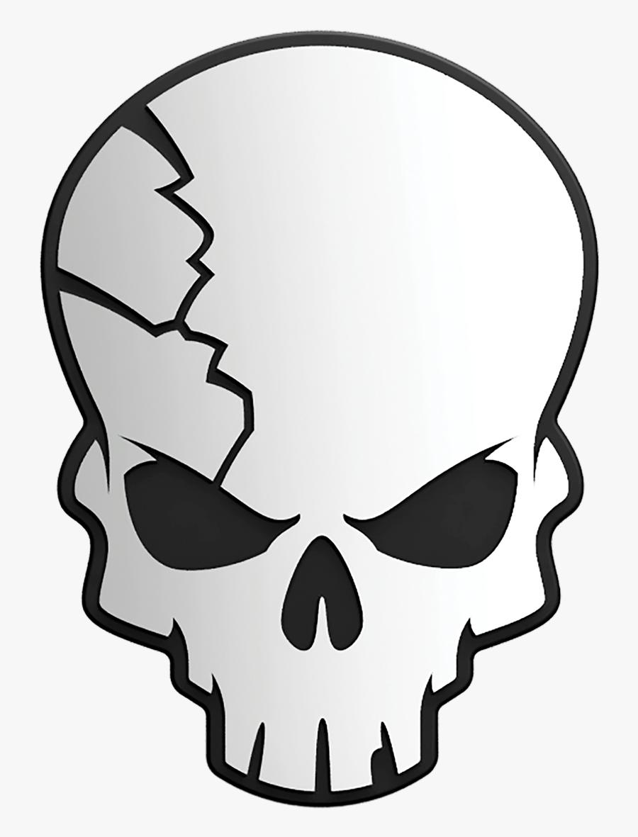 Transparent Cracked Skull Png , Free Transparent Clipart.