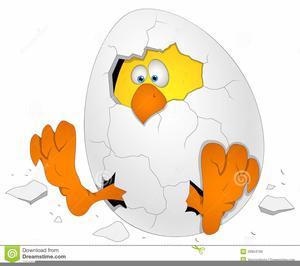 Cracked Easter Egg Clipart.