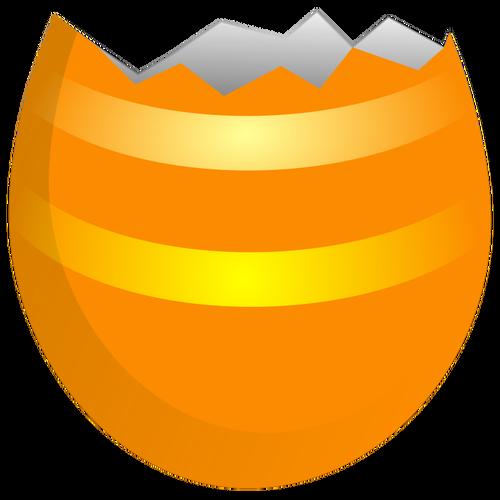 Cracked Easter egg vector clip art.