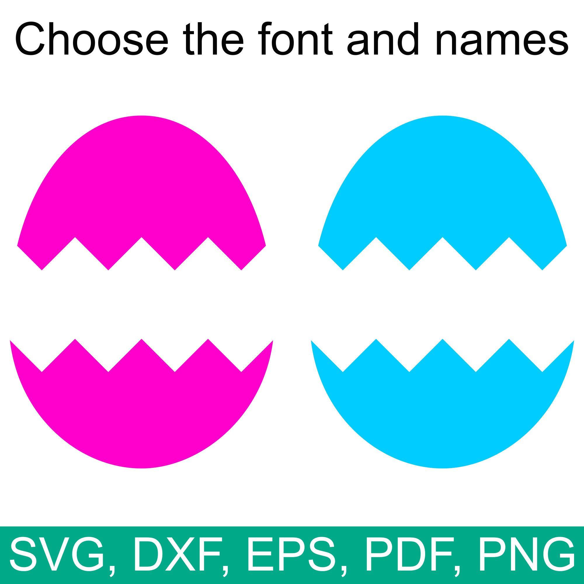 Split Easter Egg Monogram SVG Frame, a Cracked Easter Egg that makes.