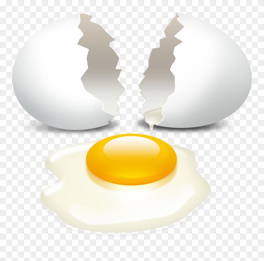 Cracked Egg Transparent Background Clipart (#815382).