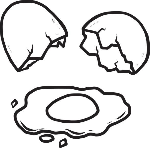 Best Cracked Egg Illustrations, Royalty.