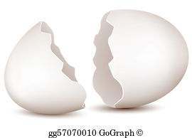 Cracked Egg Clip Art.