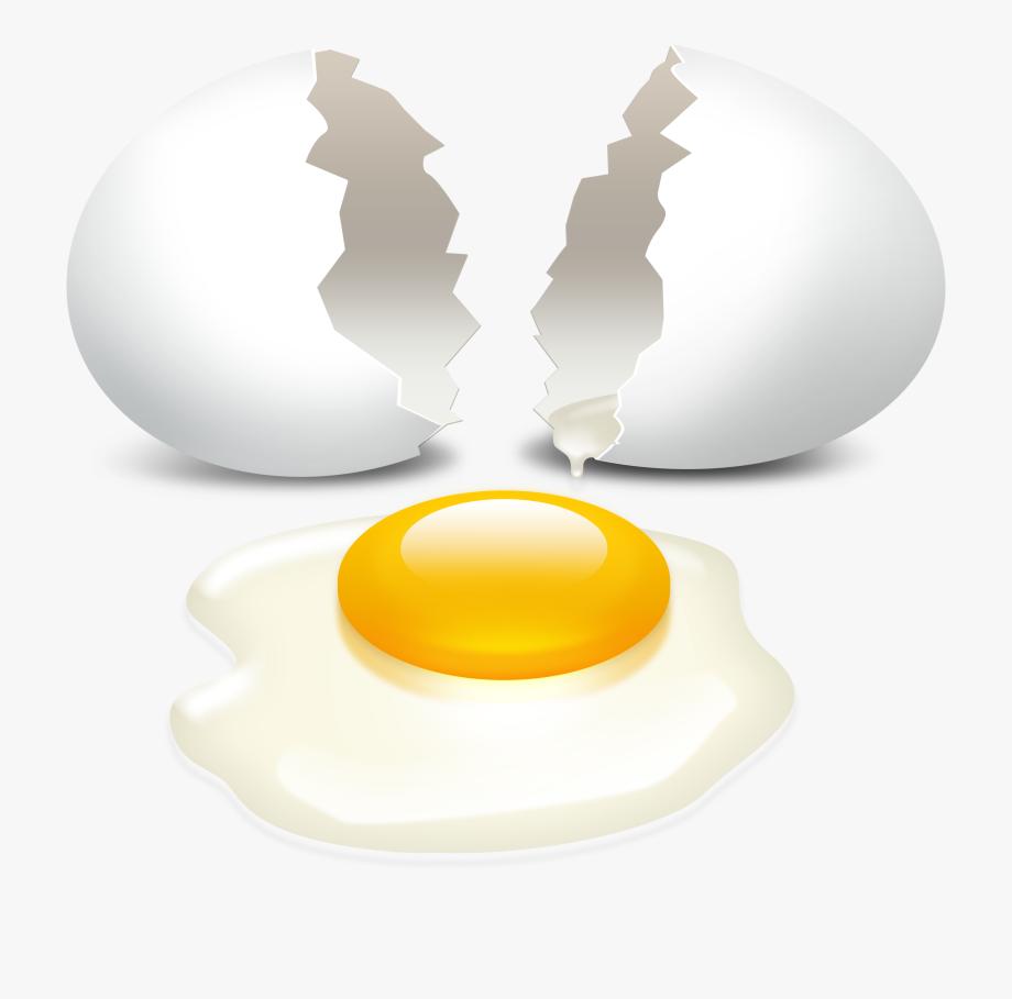 Cracked Eggs Clipart.