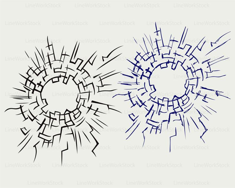 Cracked glass svg/cracked glass clipart/cracked glass svg/silhouette/cricut  cut files/clip art/digital download designs/svg.