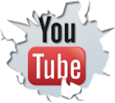 Free (Cracked YouTube Logo) Vector Graphic.